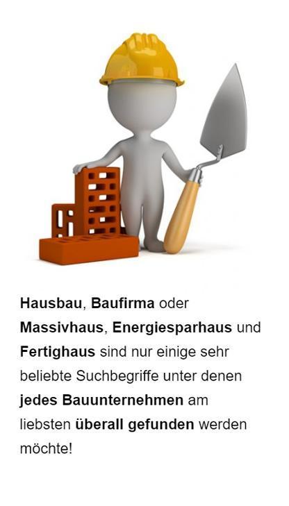 Baugewerbe SEO für  Waldeck