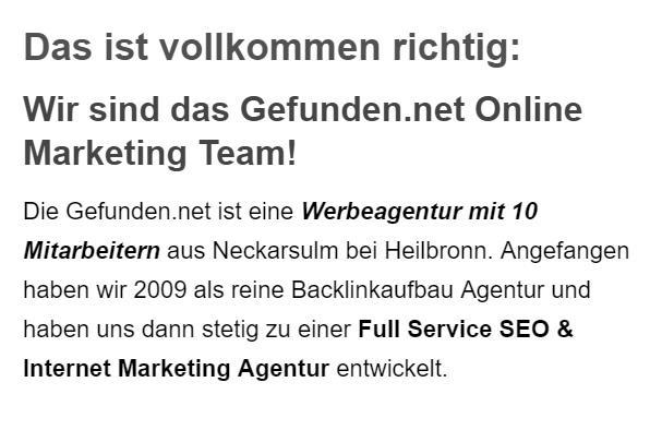 Full Service Internet Marketing Agentur in  Struckum