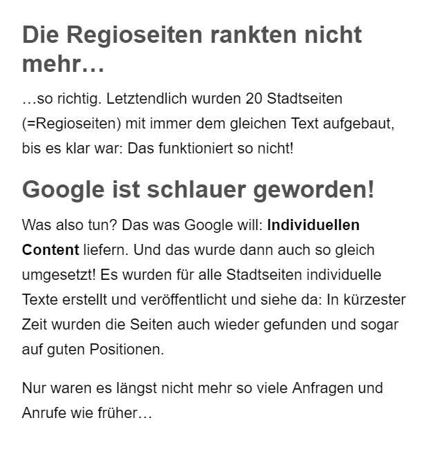Google lokale Seiten Erstellung aus  Gleiritsch