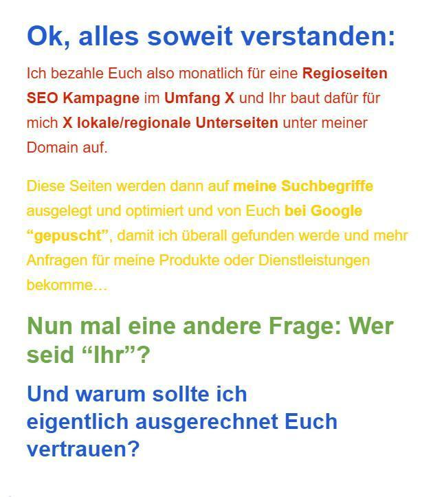 Google my Business aus  Seefeld