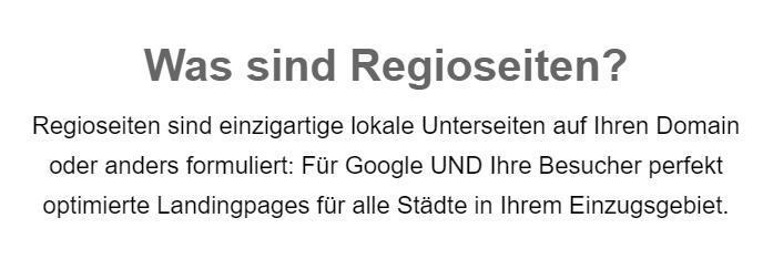 Regioseiten: SEO mit lokalen Landingpages für  Deutschland