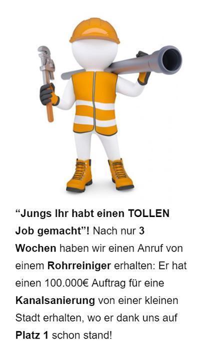 Rohrreinigung lokale Werbung für  Waldeck