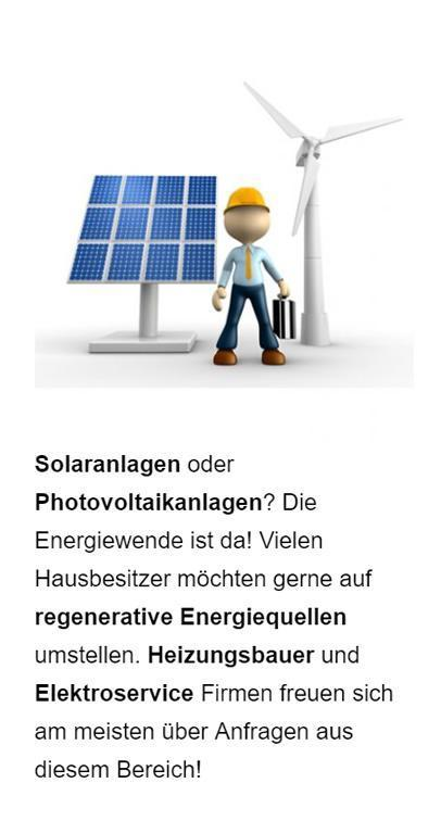 Solaranlagen Anbieter Werbung aus  Münster