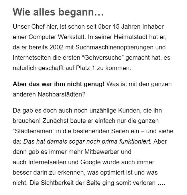 Suchmaschinenoptimierung für  Deutschland