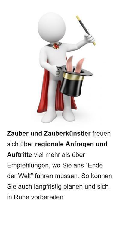 Zauberer Werbung für  Remchingen