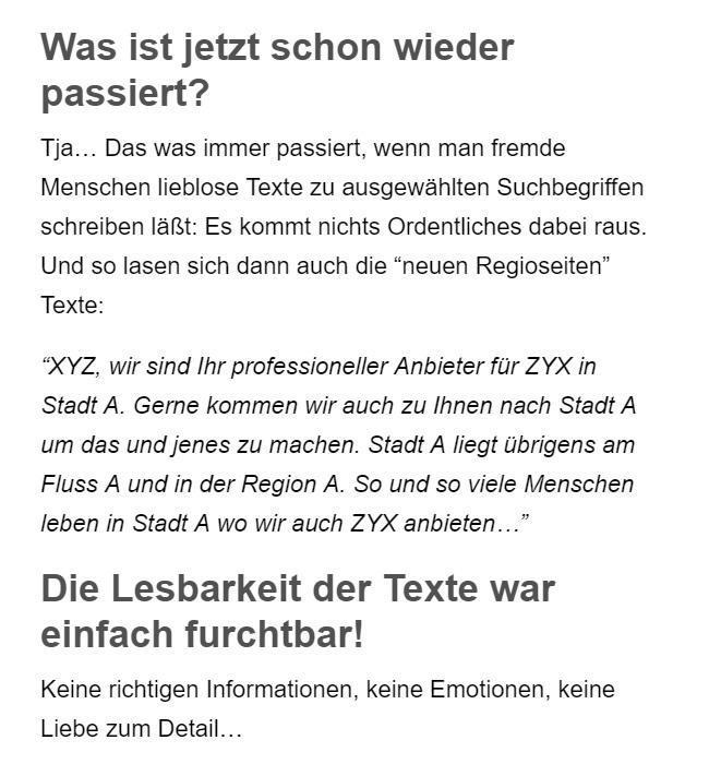 Googlefreundliche SEO Texte aus  Langensendelbach